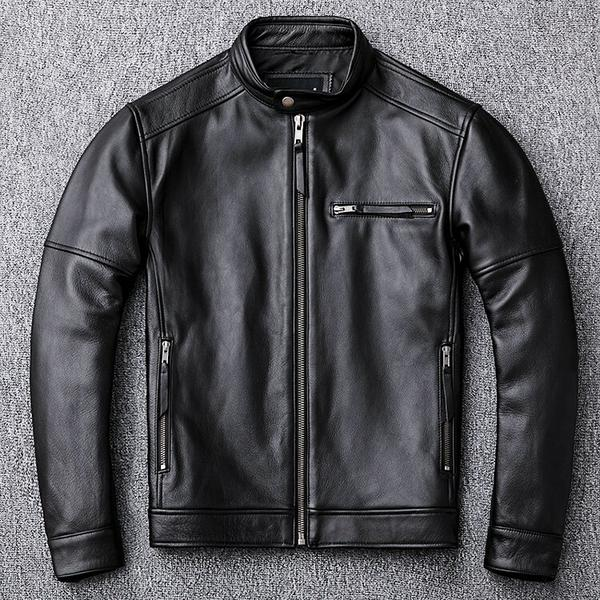 Free shipping classic casual style Plus size cowhide Jackets men slim 100 genuine Leather jacket super f27e9c63 776a 4d30 9335 abbd8217f546 grande